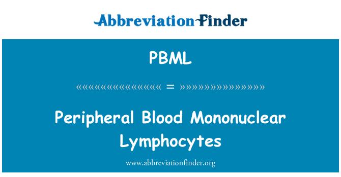 PBML: Peripheral Blood Mononuclear Lymphocytes