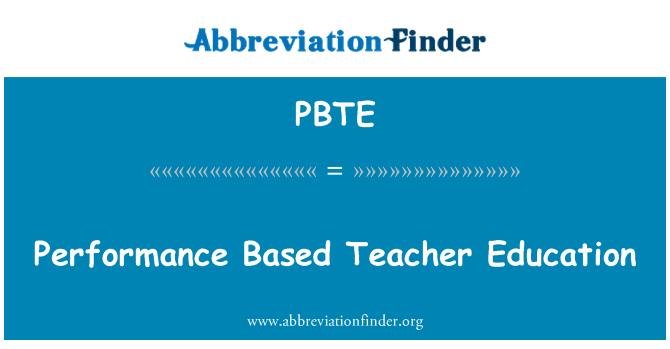 PBTE: Rendimiento basado en la formación docente