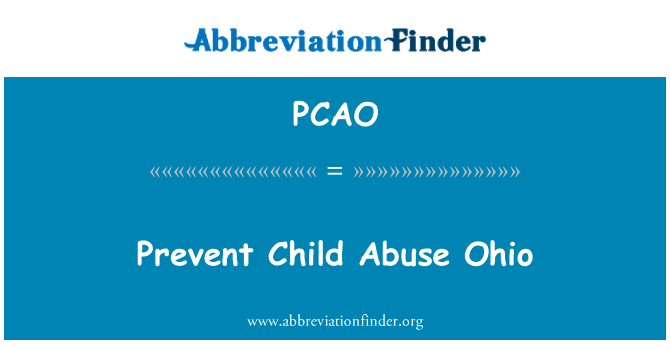 PCAO: Prevent Child Abuse Ohio