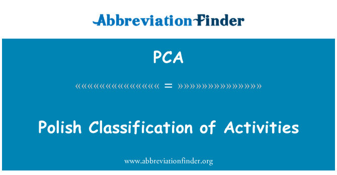 PCA: Polish Classification of Activities
