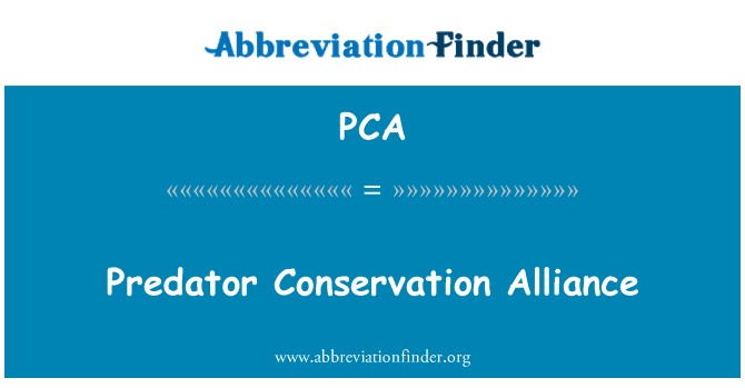 PCA: Predator Conservation Alliance