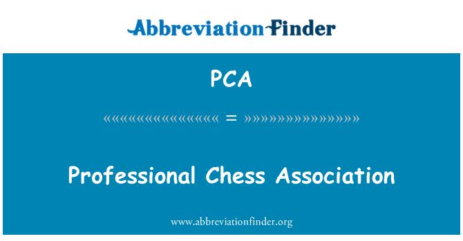 PCA: Professional Chess Association
