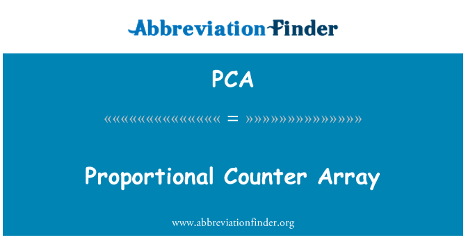 PCA: Proportional Counter Array