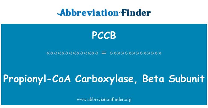 PCCB: Propionyl-CoA karboksülaasi, Beta allüksuse