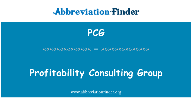 PCG: Profitability Consulting Group