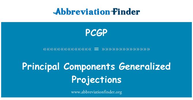 PCGP: Principal Components Generalized Projections
