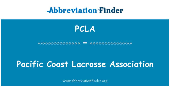 PCLA: 太平洋海岸曲棍球协会