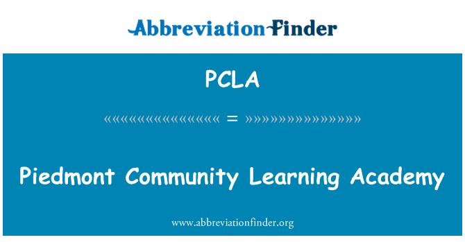 PCLA: Piedmont ühendus õppe Akadeemia