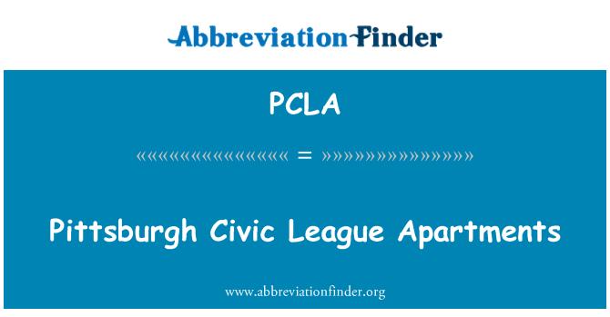 PCLA: Pittsburgh Civic liigas korterid