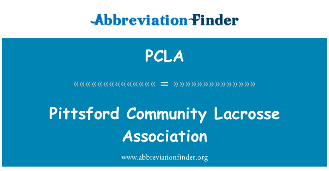 PCLA: Pittsford Community Lacrosse Association