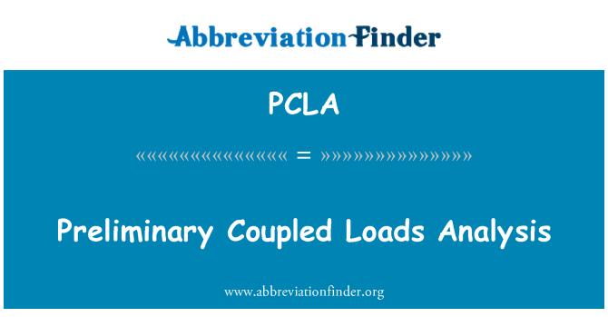 PCLA: Permulaan serta analisis beban