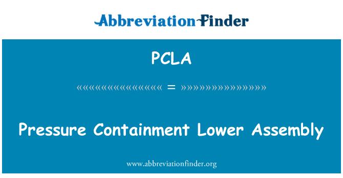 PCLA: Tekanan terlalu rendah perhimpunan