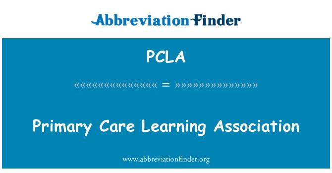 PCLA: Persatuan penjagaan asas pembelajaran