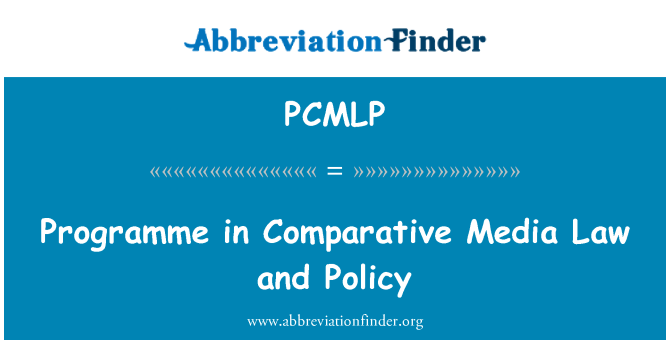 PCMLP: Programme in Comparative Media Law and Policy