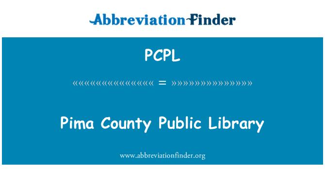 PCPL: Pima County Public Library