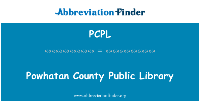 PCPL: Powhatan County Public Library