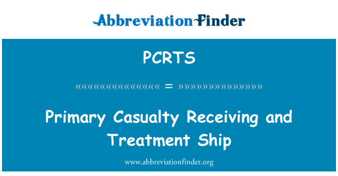 PCRTS: Primary Casualty Receiving and Treatment Ship