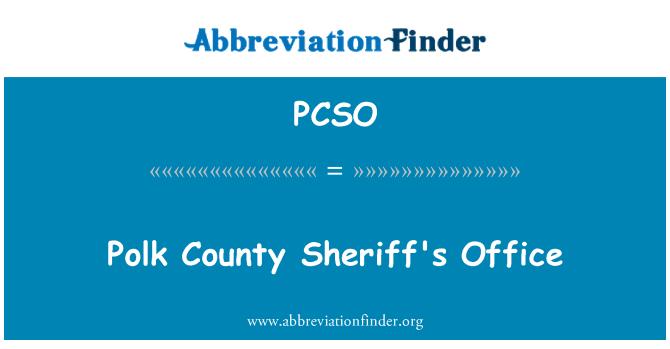 PCSO: Polk County Şerif Ofisi