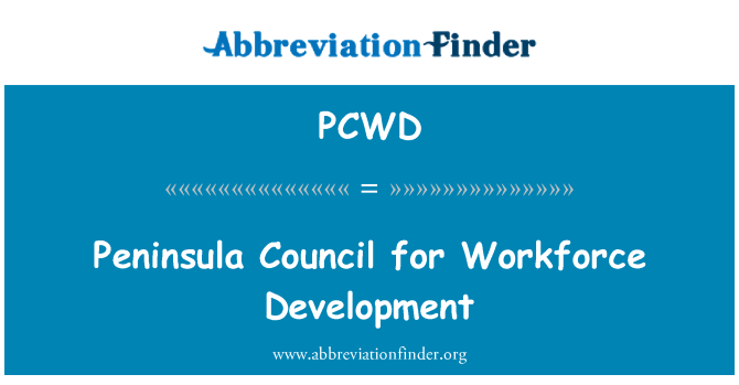 PCWD: Peninsula Council for Workforce Development