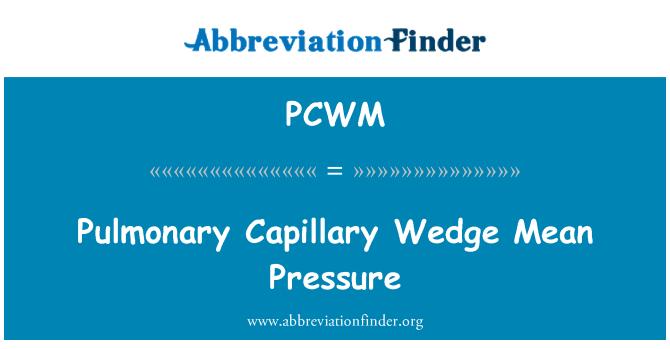PCWM: Pulmonary Capillary Wedge Mean Pressure