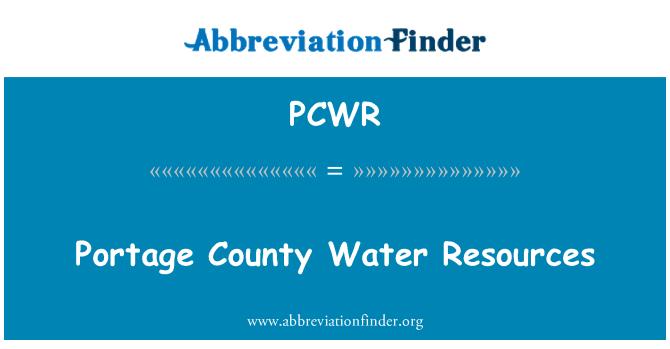 PCWR: Recursos de agua del Condado de Portage