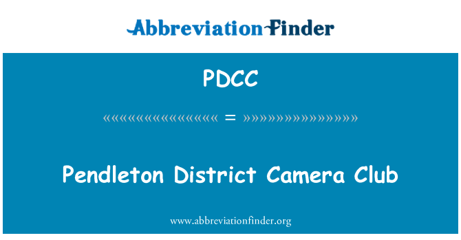 PDCC: Pendleton District Camera Club