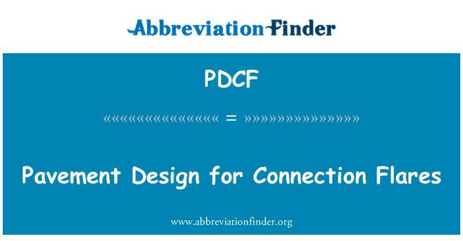 PDCF: Diseño de pavimento para conexión bengalas