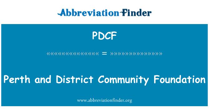 PDCF: Perth y Distrito Community Foundation