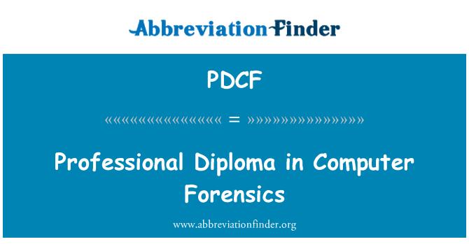 PDCF: Diploma profesional en informática forense