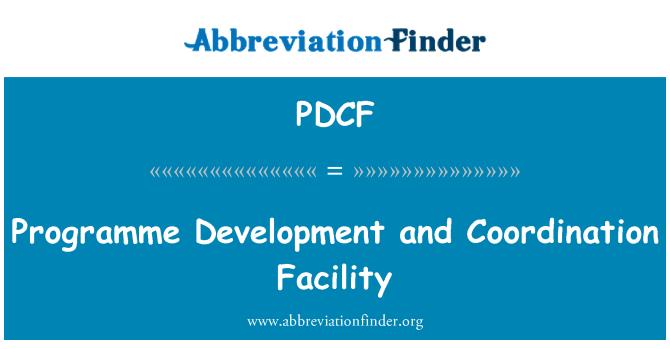 PDCF: Servicio de coordinación y desarrollo del programa