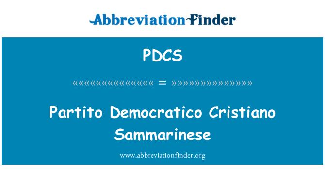 PDCS: Partito Democratico Cristiano Sammarinese