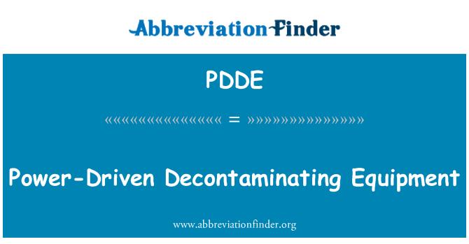 PDDE: Descontaminación de equipos accionados por electricidad