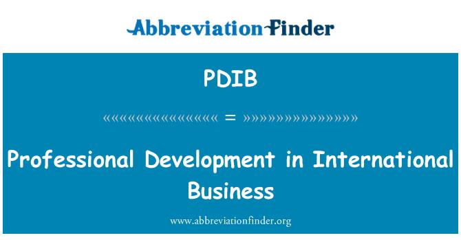 PDIB: Professional Development in International Business