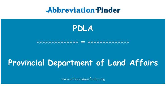 PDLA: İl Müdürlüğü toprak işleri