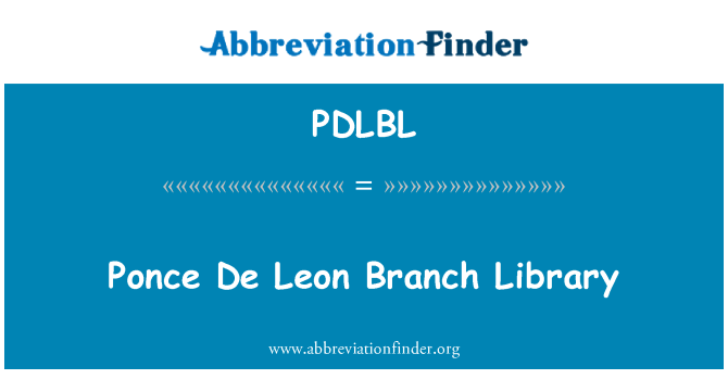 PDLBL: Ponce De Leon Branch Library