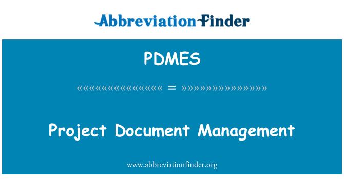 PDMES: Project Document Management