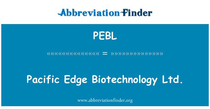 PEBL: Pacific Edge biotecnología Ltd.