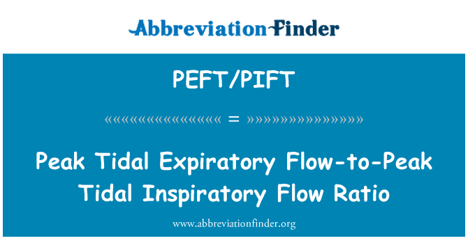 PEFT/PIFT: Peak Tidal Expiratory Flow-to-Peak Tidal Inspiratory Flow Ratio