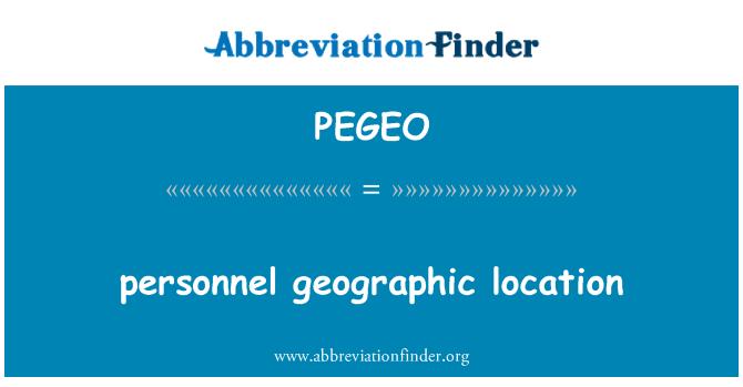 PEGEO: personnel geographic location