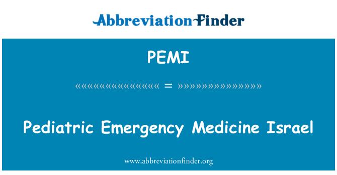 PEMI: Pediatric Emergency Medicine Israel