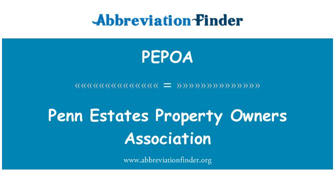 PEPOA: Penn Estates Property Owners Association