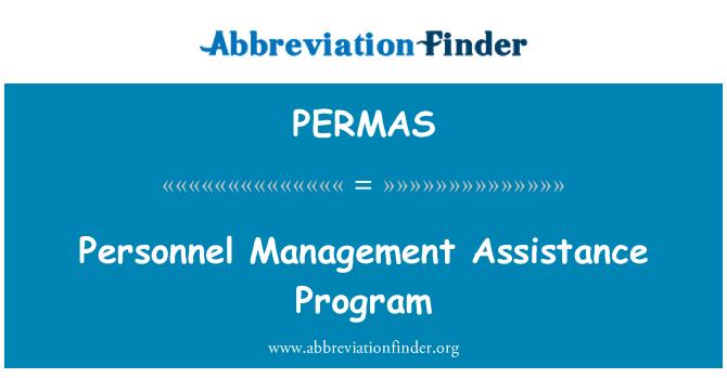 PERMAS: Personnel Management Assistance Program