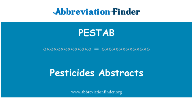 PESTAB: Pesticides Abstracts