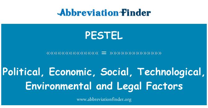PESTEL: Siyasi, ekonomik, sosyal, teknolojik, çevresel ve yasal Etkenler