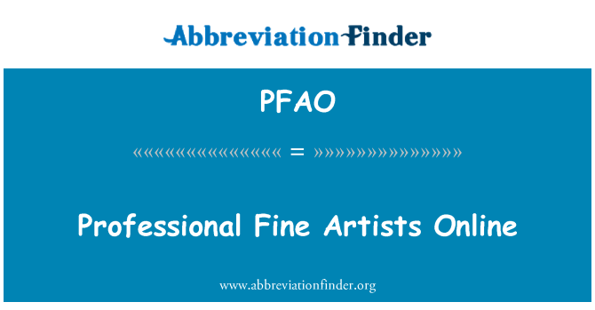 PFAO: Professional Fine Artists Online