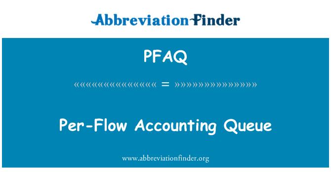 PFAQ: Per-Flow Accounting Queue
