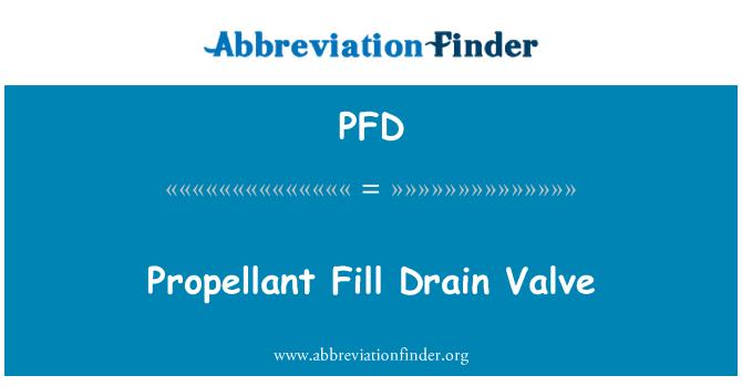 PFD: Propellant Fill Drain Valve