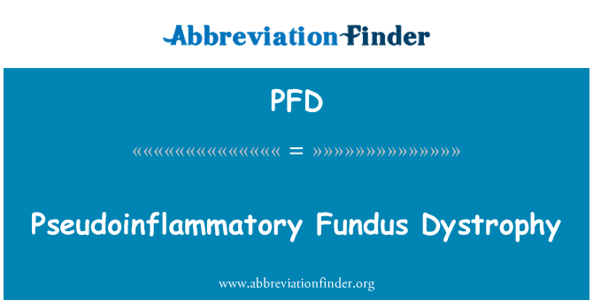 PFD: Pseudoinflammatory Fundus Dystrophy
