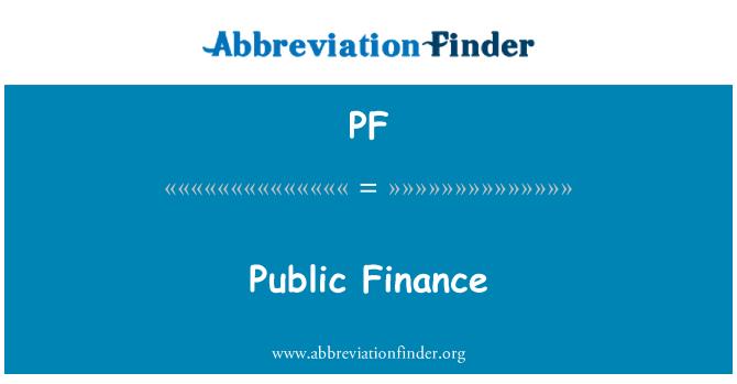 PF: Finanzas públicas