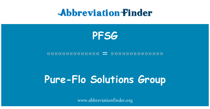 PFSG: Pure-Flo Solutions Group